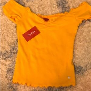 Yellow Guess crop top